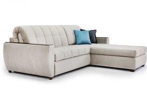 Угловой диван-аккордеон с большой оттоманкой Томас - Мебельная фабрика «Джениуспарк»