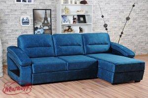 Угловой диван Бенилюкс с оттоманкой - Мебельная фабрика «Мягкофф»