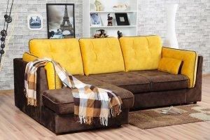 Угловой диван Брайтон с оттоманкой - Мебельная фабрика «Мягкофф»