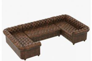 Угловой диван Честерфилд   - Мебельная фабрика «Alternativa Design», г. Самара