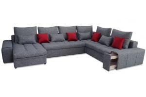 Угловой диван Дублин с оттоманкой - Мебельная фабрика «Арт-мебель»