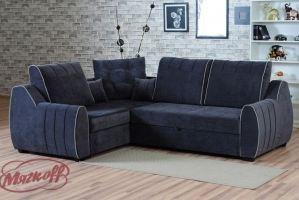 Угловой диван Джексон с оттоманкой - Мебельная фабрика «Мягкофф»
