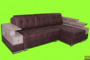 Угловой диван Хилтон с подлокотниками - Мебельная фабрика «Уют»