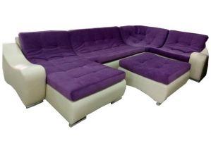 Угловой диван Комфорт с пуфом - Мебельная фабрика «Корона Люкс»