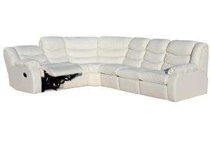 Угловой диван Манчестер с креслом реклайнером - Мебельная фабрика «Rina»