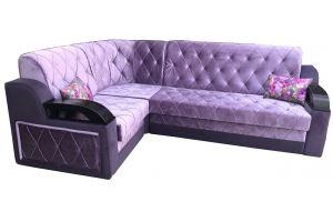 Угловой фиолетовый диван Милан 2 - Мебельная фабрика «Витэк»