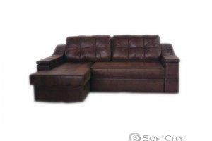 угловой диван Неаполь с оттоманкой - Мебельная фабрика «Софт Сити»