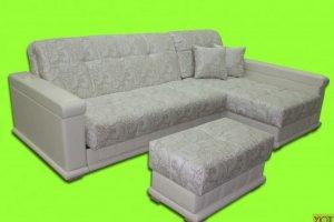 Угловой диван Прадо с пуфом - Мебельная фабрика «Уют»