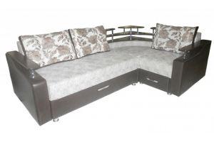 Угловой диван Радуга с полкой - Мебельная фабрика «Радуга»
