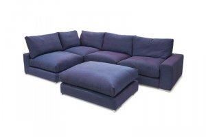 Угловой диван Ричард с пуфом - Мебельная фабрика «Мануфактура уюта (DreamPark)»