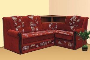 Угловой диван с баром - Мебельная фабрика «Алина»
