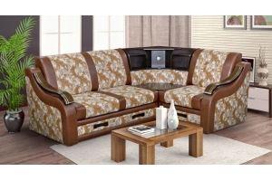 Угловой диван с баром Бостон 6 - Мебельная фабрика «Катрина»