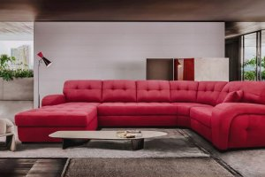 Угловой диван с оттоманкой Эвита - Мебельная фабрика «Комфорт Плюс»