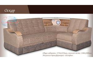Угловой диван с полкой Оскар - Мебельная фабрика «Евростиль», г. Ульяновск
