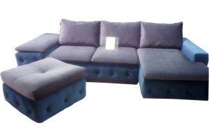 Угловой диван с пуфом - Мебельная фабрика «Виктория-мебель»