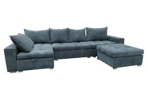 Угловой диван с пуфом Best - Мебельная фабрика «Виконт»