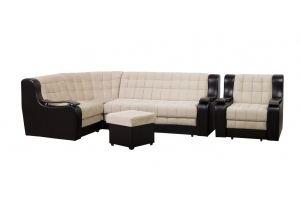 Угловой диван Квадрат+кресло с пуфом - Мебельная фабрика «OSHN GROUP»