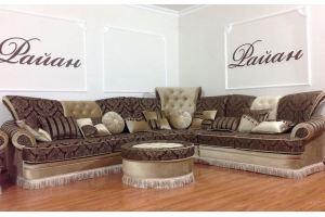 Угловой диван с пуфом Мадонна - Мебельная фабрика «РАЙАН»