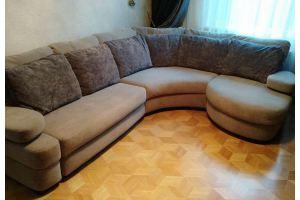 Угловой диван с закругленной оттоманкой - Мебельная фабрика «Элит-диван», г. Москва