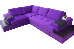 Угловой фиолетовый диван Сиэтл - Мебельная фабрика «Добротная мебель»