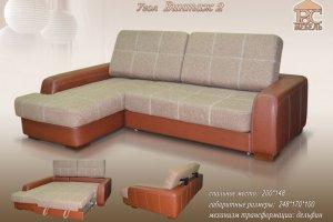 Угловой диван Винтаж-2 - Мебельная фабрика «Росмебель»