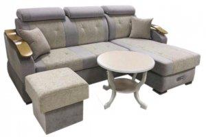 Угловой диван Винтаж с пуфом - Мебельная фабрика «Уютный Дом»