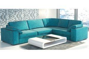 Угловой голубой диван - Мебельная фабрика «Экодизайн»