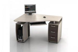 Угловой компьютерный стол КС-14У Ибис - Мебельная фабрика «Ная»