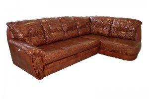 Угловой кожаный диван Марсель - Мебельная фабрика «Финнко-мебель»