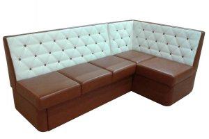 Угловой кухонный диван Форест с цветом капучино - Мебельная фабрика «Домосед»