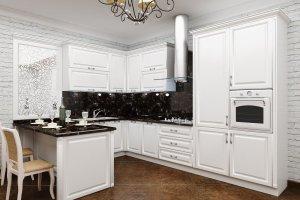 Угловой белый кухонный гарнитур Мюнхен - Мебельная фабрика «Акварель»
