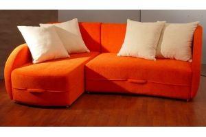Угловой оранжевый диван - Мебельная фабрика «Оричанка»