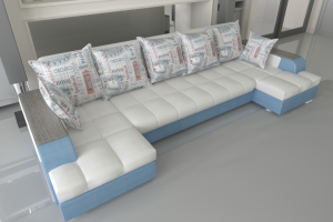 Угловой П-образный диван Гранд тик-так - Мебельная фабрика «Версаль»