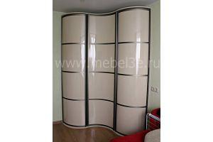 Угловой радиусный шкаф с распашными дверями - Мебельная фабрика «ТРИ-е»