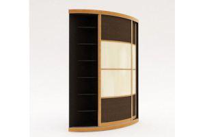 Угловой разносторонний радиусный шкаф-купе - Мебельная фабрика «Манго»
