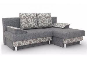 Угловой серый диван Каролина - Мебельная фабрика «Лидер»