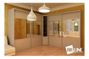 Угловой шкаф-купе 9-U-1 - Мебельная фабрика «ARLINE»