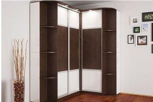 Угловой шкаф-купе с подсветкой - Мебельная фабрика «Подольск»