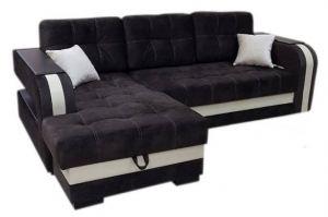 Угловой темный диван Никсон - Мебельная фабрика «Каролина»