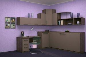 Уголок с горизонтальной кроватью - Мебельная фабрика «Анталь», г. Новосибирск
