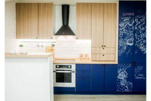 Ультрамодная кухня Граффити с  грифельным фасадом - Мебельная фабрика «Хомма»