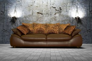 Уютный прямой диван Верона - Мебельная фабрика «Люкс Холл»