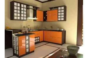 В японском стиле кухня 2 - Мебельная фабрика «Алекс-Мебель»