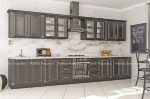 Большая прямая кухня Вавилон - Мебельная фабрика «Мебель Поволжья»