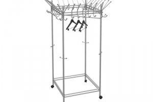 Вешалка гардеробная на колесах Пико 23 металлик - Мебельная фабрика «Мебелик»