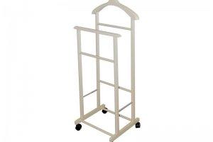 Вешалка костюмная на колесах В 22Н слоновая кость - Мебельная фабрика «Мебелик»