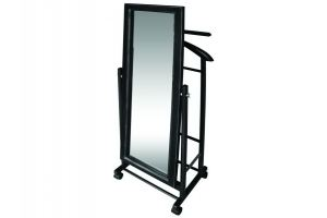 Вешалка костюмная с зеркалом на колесах В 24Н - Мебельная фабрика «Мебелик»