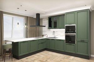 Кухня МДФ Village 1 colour - Мебельная фабрика «Энгельсская (Эмфа)»