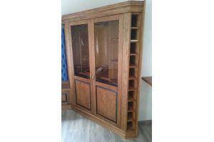 Винный шкаф с декоративными панелями - Мебельная фабрика «Моллитер»