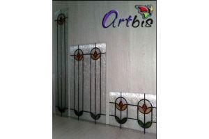 Витраж цветной на рифленом стекле - Оптовый поставщик комплектующих «Artbis»
